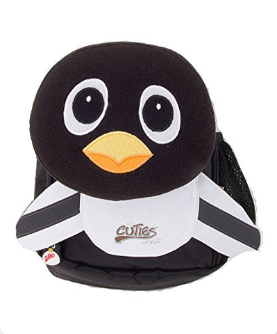 Cuties And Pals Kids Small Backpack With Pillow Lunch Bag - Penguin