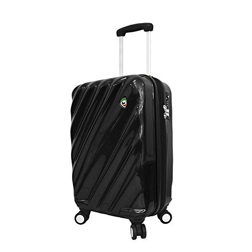 Mia Toro Onda Fusion Hardside Spinner Carry-On, Black, One Size