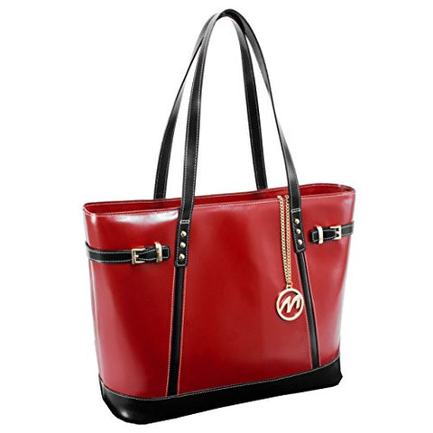McKleinUSA SERAFINA  97566 Red Leather Women's Business Tote