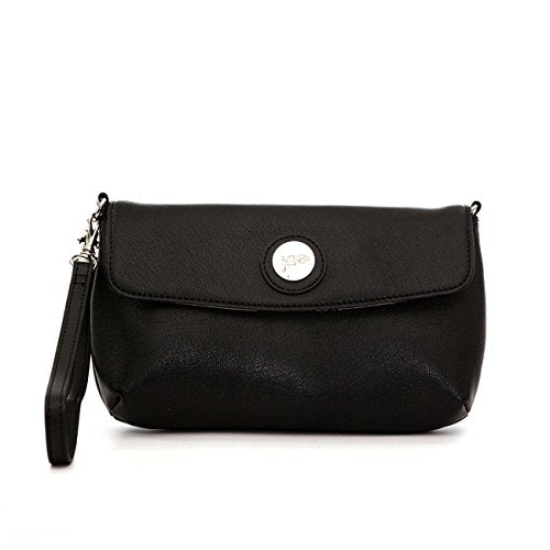 Jill-E Designs Essential Leather Smartphone Wristlet, Black (373540)