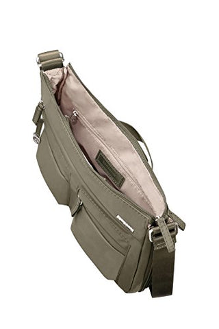 Samsonite Move 2.0 Hobo M Expandable Messenger Bag, 34 cm, 6.48 Liters, Silver Green