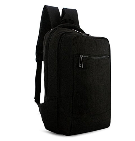 Fashion Pure Color College Business Backpack Lightweight Travel Rucksack for 15 15.6 Inch Laptop and Notebook BLACK