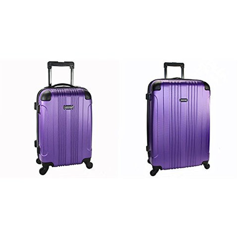 "Kenneth Cole Reaction Out Of Bounds 4 Wheel Upright Two-Piece Set (20""/28""), Purple"