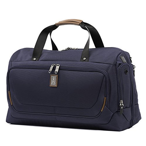 "Travelpro Luggage Crew 11 22"" Carry-on Smart Duffel with Suiter w/USB Port, Patriot Blue"