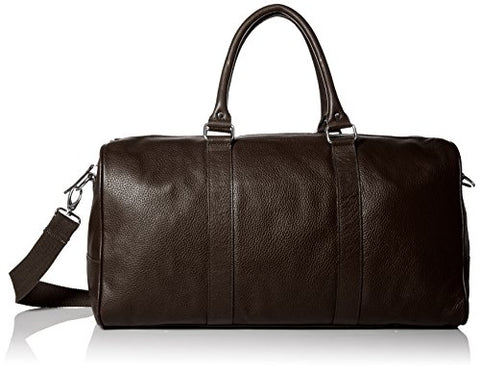 Cole Haan Men'S Pebble Leather Duffle, Chocolate, One Size