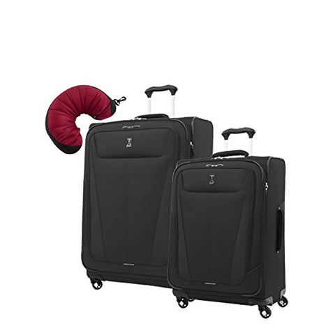 "Travelpro Maxlite 5 | 3-PC Set | 25"" & 29"" Exp. Spinners with Travel Pillow (Black)"