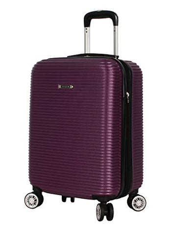 "Nicole Miller New York Bernice Collection Hardside 20"" Luggage Spinner (20in, Bernice Purple)"