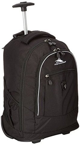 High Sierra Chaser Wheeled Book Bag (20 X 13.5 X 8-Inch, Black/Black)