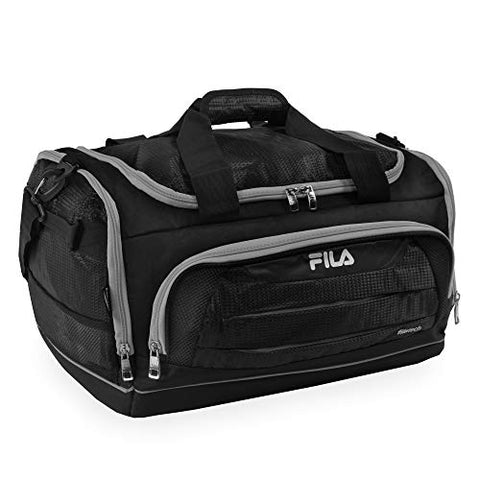 Fila Cypress Small Sport Duffel Bag, Black/Grey, One Size