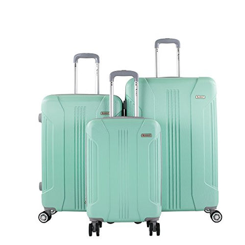 AMKA Sierra TSA Luggage Set, Mint, 3 Piece