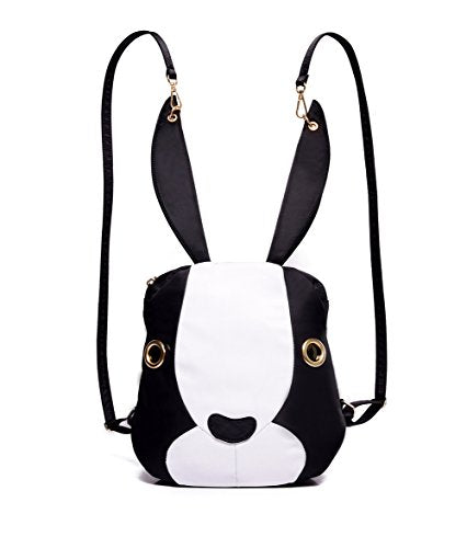 Mojing Cute Bunny Backpack Purse For Girls,Cartoon Rabbit Schoolbag Daypack(White)
