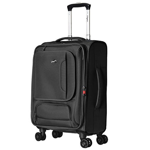 "Olympia Petra 21"" Carry-on Spinner, Black"