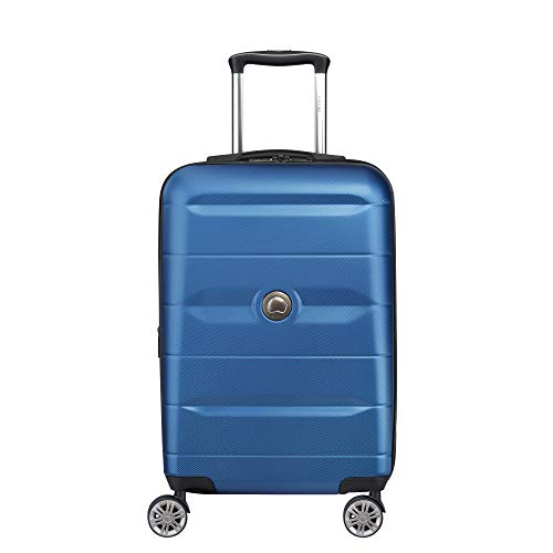DELSEY Paris Luggage Comete 2.0 Limited Edition Carry-on Hardside Suitcase, Steel Blue