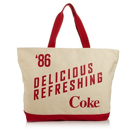 Coca-cola Oversized Tote Bag with Matching Wristlet ~Delicious & Refreshing
