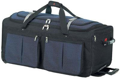 "Athalon Luggage 22"" 15-Pocket Duffel, Blue"
