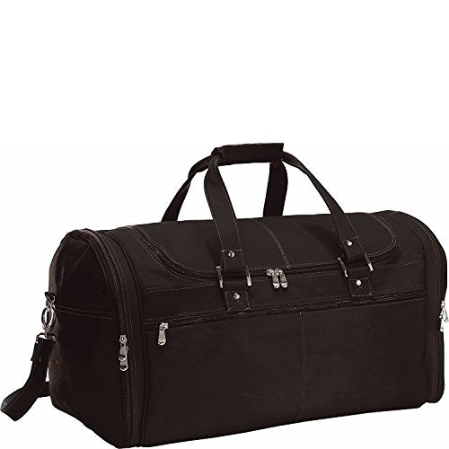 David King Vaquetta Leather Deluxe Extra Large Multi Pocket Duffel In Cafe