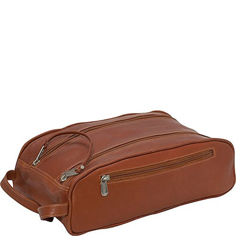 Piel Leather Double Compartment Shoe Bag, Saddle, One Size