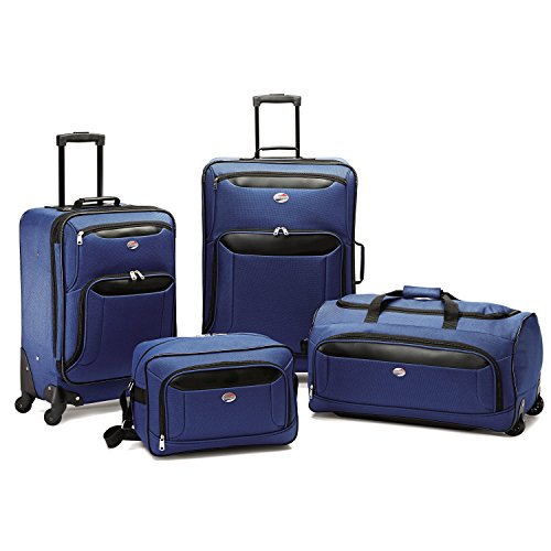American Tourister Brookfield 4 Piece Set, Navy/Black, One Size