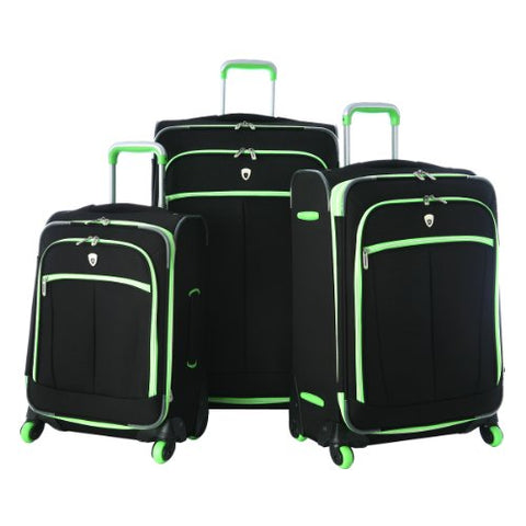 Olympia Evansville 3Pc Luggage Set, Lime, One Size
