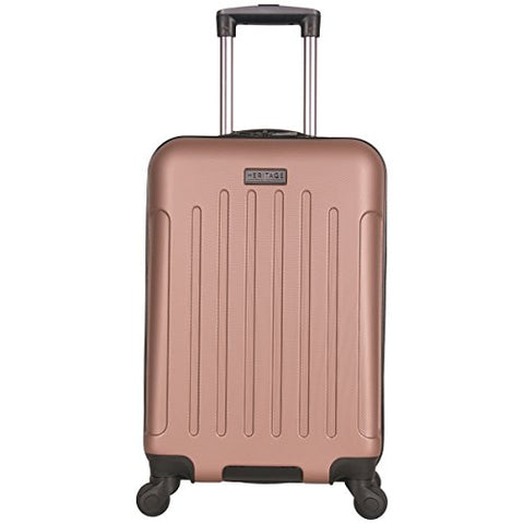 "Heritage Lincoln Park 20"" Abs 4-Wheel Carry On Luggage, Rose Gold"