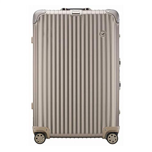 Rimowa Lufthansa Private Jet Collection Suitcase 84.5L Titanium Electronic Tag