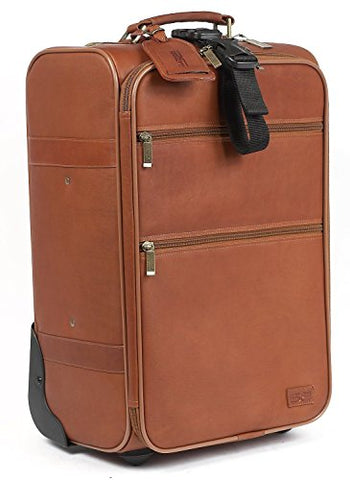 "Claire Chase Classic Carry-On Luggage 22"" Pullman, Rolling Suitcase In Saddle"