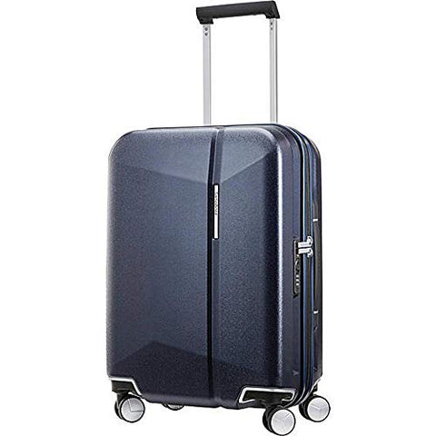 Samsonite Etude Hardside Carry On Luggage With Double Spinner Wheels, Dark Navy