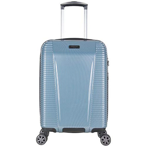 "Kenneth Cole New York Sudden Impact 2.0 20"" Hardside Expandable 8-Wheel Spinner Carry-on Luggage with TSA Lock, Ice Blue"