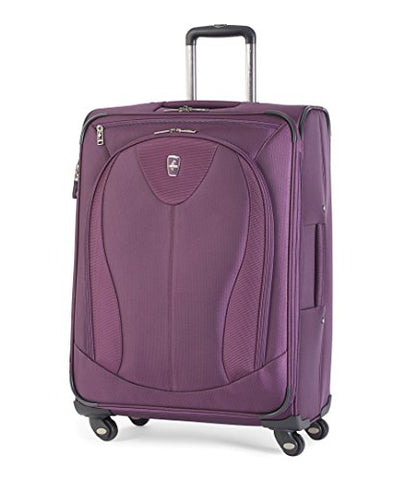 Atlantic Luggage Ultra Lite 3 25 Inch Expandable Spinner, Purple, One Size