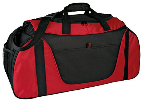 Port & Company Adjustable Shoulder Strap Two-Tone Duffle Bag