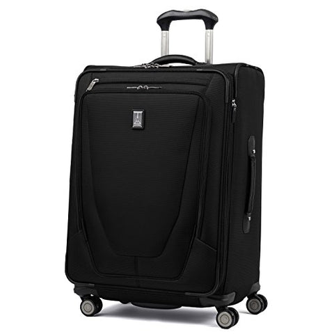 "Travelpro Luggage Crew 11 25"" Expandable Spinner Suitcase w/Suiter, Black"