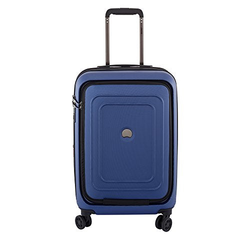 "Delsey Luggage Cruise Lite Hardside 21"" Carry on Exp. Spinner W/ Front Pocket, Blue"