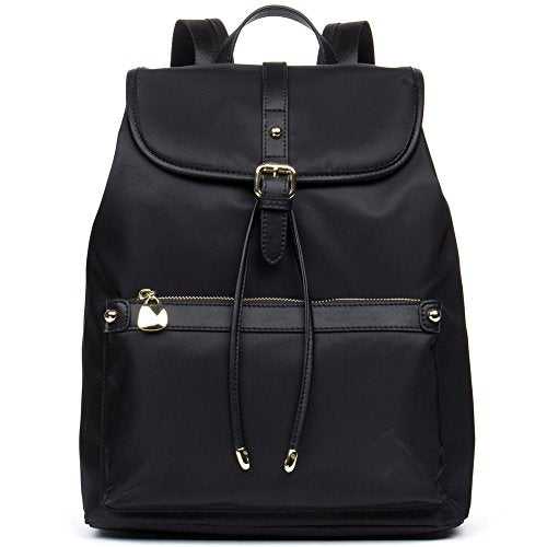 BOSTANTEN Waterproof Backpack Purse Laptop Travel Backpacks School Nylon Bag for Women Black