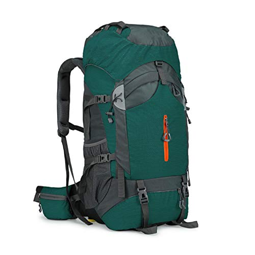 OASIS LAND 60L Camping Hiking Backpack Mountaineering Bag Large Capacity Trekking Rucksack Outdoor Backpack Hiking Camping Bags Aluminum,Green