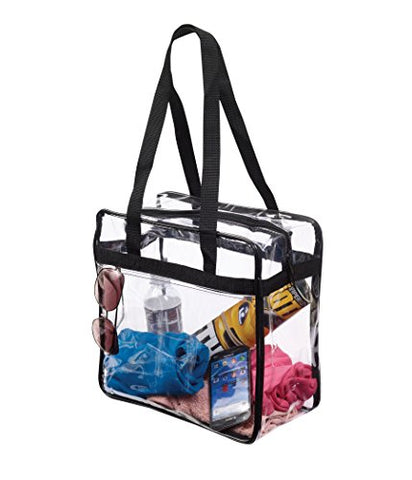 Nfl & Pga Compliant Clear Stadium Security Zippered Shoulder Bag Travel & Gym Tote By Bags For Less