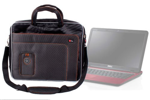"DURAGADGET Deluxe Lightweight Executive Protective 15.6"" Laptop Messenger Bag Carrying Case with"