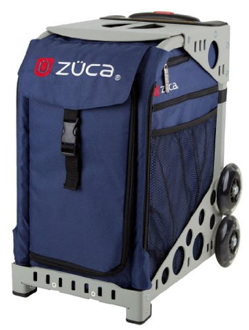 Zuca Bag Midnight Insert & Gray Frame W/ Flashing Wheels
