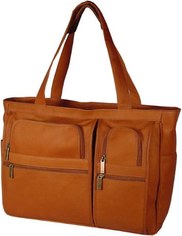 David King & Co. Women'S Multi Pocket Briefcase Plus, Tan, One Size