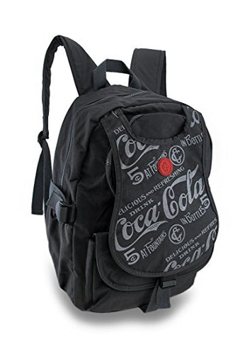 Coca-Cola Nylon Basic Multipurpose Backpacks Nylon Coca-Cola Backpack 12 X 15 X 5.25 Inches Gray