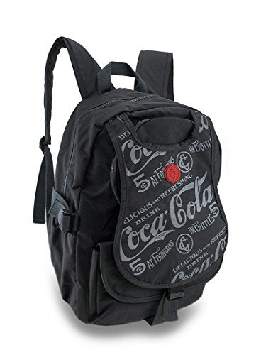 Coca-Cola Nylon Basic Multipurpose Backpacks Nylon Coca-Cola Backpack 12 X 15 X 5.25 Inches Gray Model # C82677NY