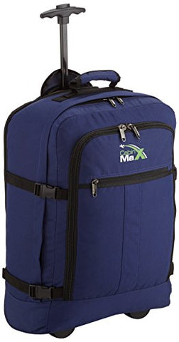 Cabin Max️ Lyon Carry On Bag with Wheels - 22x14x9 Very Lightweight at Just 3.7lbs 44L - Carry On