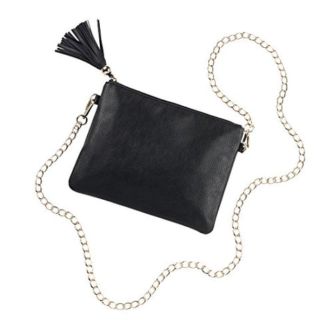 Black Vegan Leather Kendall Purse