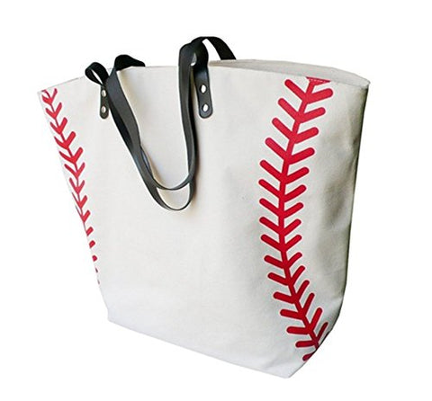 X.Sem Foldable Baseball Softball Tote Bag Canvas Oversized Beach Totes Durable Trave Handbag 22''