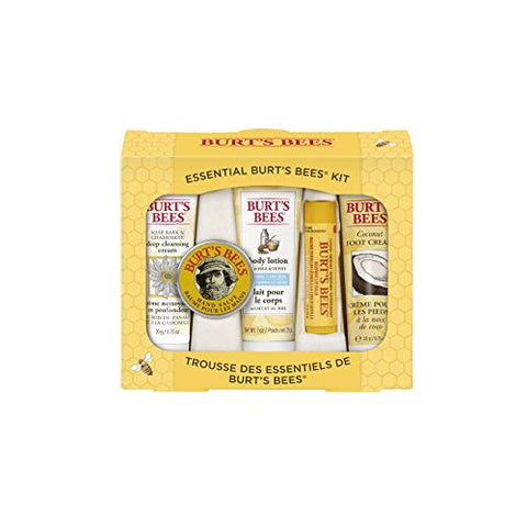Burt'S Bees Essential Everyday Beauty Gift Set,  5 Travel Size Products - Deep Cleansing Cream,