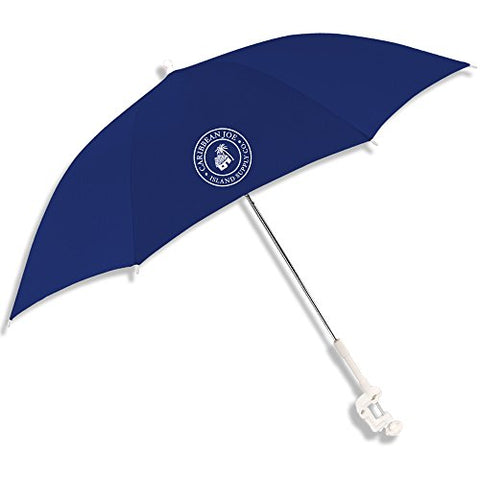 "Caribbean Joe CJ-48NVY 48"" Clamp on Beach Umbrella with UV Protection, Navy"
