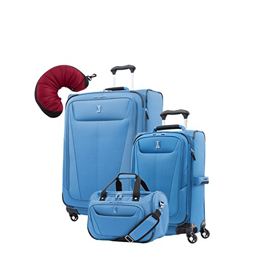 "Travelpro Maxlite 5 | 4-Pc Set | Soft Tote, 21"" Carry-On & 29"" Exp. Spinners With Travel Pillow"