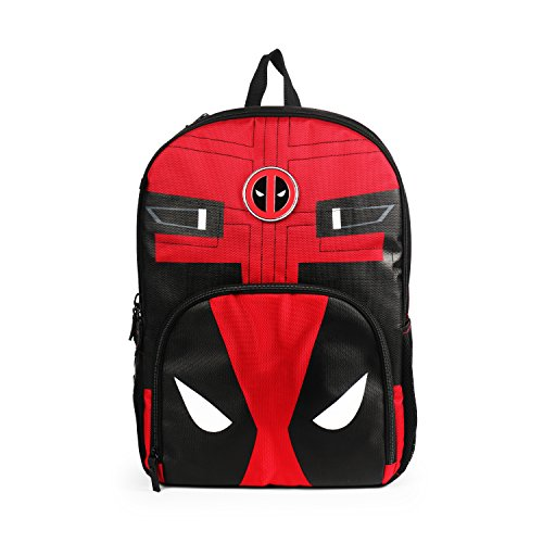 Marvel Deadpool Red and Black Backpack for Boys School Bag