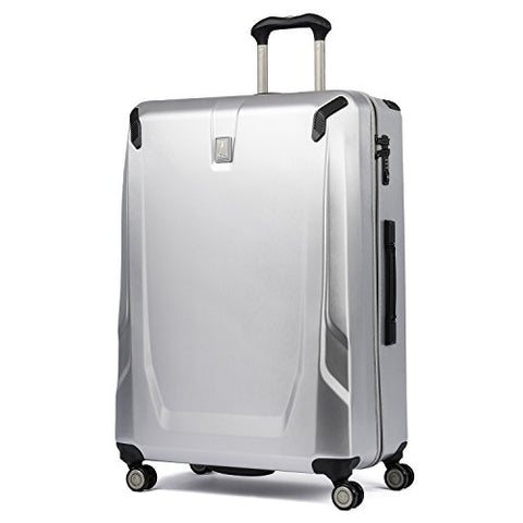 "Travelpro Luggage Crew 11 29"" Polycarbonate Hardside Spinner Suitcase, Silver"