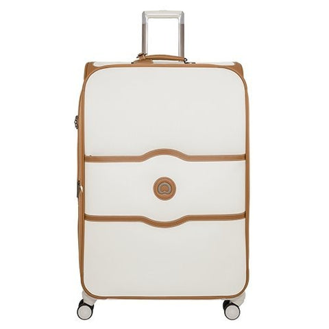 DELSEY Paris Chatelet Softside Luggage with Spinner Wheels, Champagne