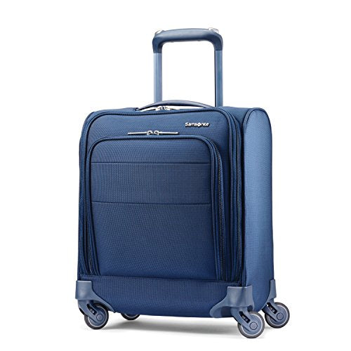 Samsonite Flexis Underseat Carry On Luggage with Spinner Wheels, Carbon Blue